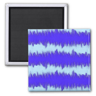 Two Tone Blue Pulse Square Magnet