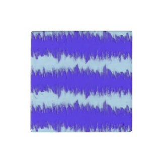 Two Tone Blue Pulse Stone Magnet