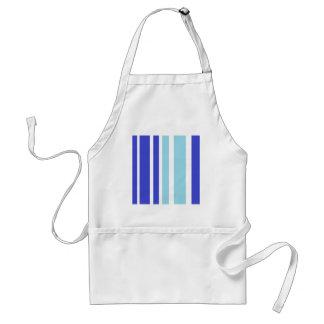 two tone blue stripe pattern apron