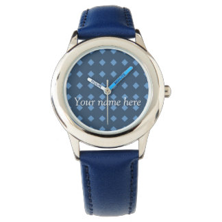 Two Tone Blue/Turquois Geometric Pattern Watch
