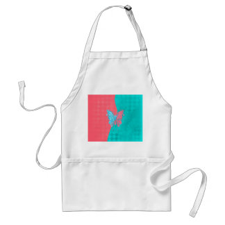 Two Tone Butterfly Pink and Teal Aprons