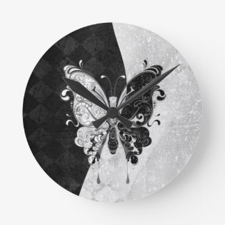 Two Tone Butterfly Wallclocks