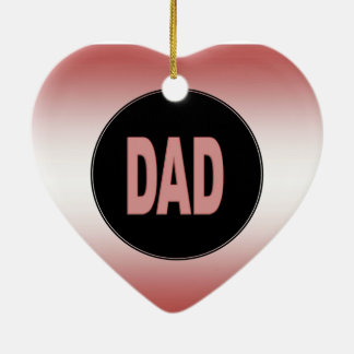 Two Tone Dad Ceramic Heart Decoration