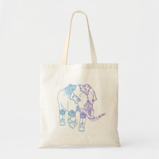 Two-Tone Embellished Elephant Bag
