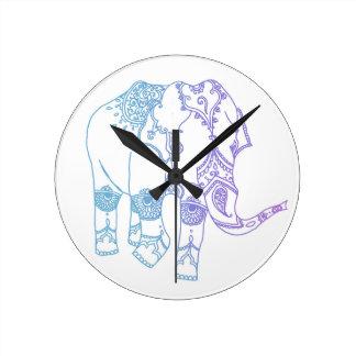 Two-Tone Embellished Elephant Clock