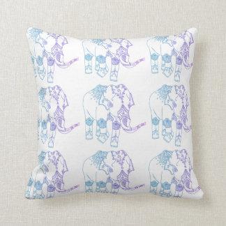 Two-Tone Embellished Elephant Cushion