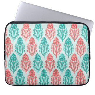 Two-tone feathers 13-inch Laptop Sleeve
