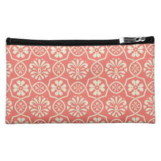 Two-tone Floral Medium Cosmetic Bag