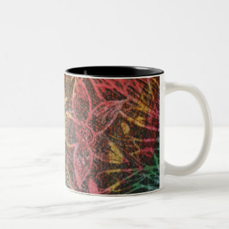Two Tone Flower And Foliage Mug