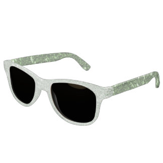 Two Tone Green Faux Glitter Sunglasses