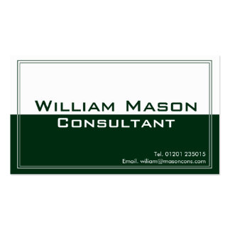 Two Tone Green White, Professional Business Card