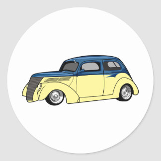 Two Tone Hot Rod Classic Round Sticker