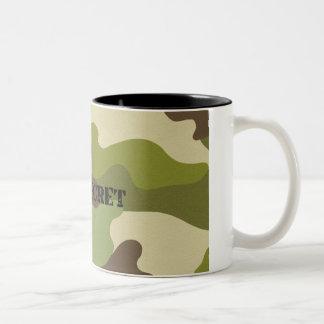 Two-Tone Mug top secret camouflage military