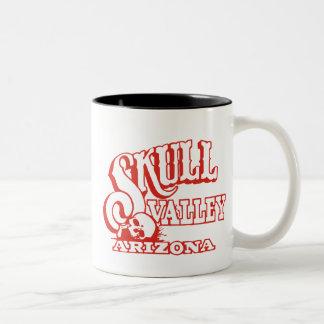 Two Tone Mug w/ Skull Valley, Arizona Logo Coffee Mug