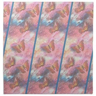 Two-Tone Pastel Monarchs Napkin