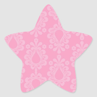 two tone pastel pink floral damask pattern sticker