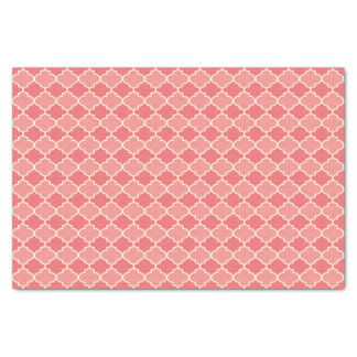 Two-Tone Pink Moroccan Lattice Tissue Paper