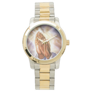 Two-Tone Praying Hands Watch