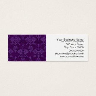 Two Tone Purple Damask Mini Business Card