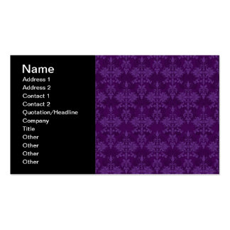 Two Tone Purple Damask Pack Of Standard Business Cards