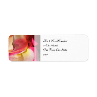 Two Tone Rose Wedding Return Address Label