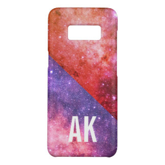 two tone space with monogram Case-Mate samsung galaxy s8 case