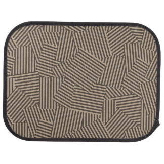 Two Tone Trendy Geometric Spliced Dessign Car Mat
