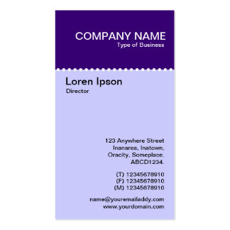 Two Tone Vertical - Dotted Rule Business Card Template