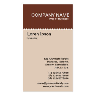 Two Tone Vertical - Dotted Rule Pack Of Standard Business Cards