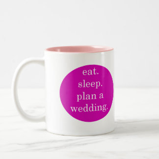 Two Tone Wedding Planning Mug for Bride to Be