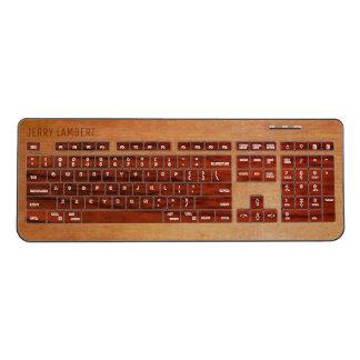 Two Tone Wood Print Wireless Keyboard