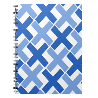 Two Toned Blue Xs Notebook