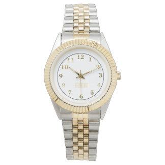 Two Toned Bracelet Watch/Gold Watch