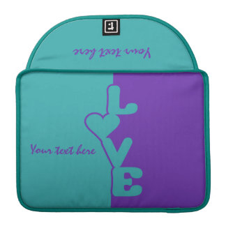 Two-Toned Love custom Macbook sleeve