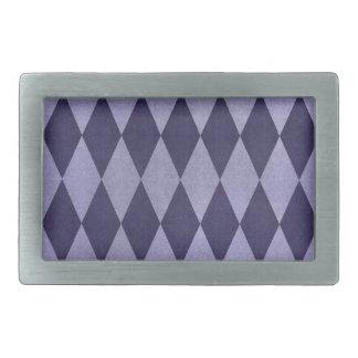 Two Toned Purple Harlequins Belt Buckle