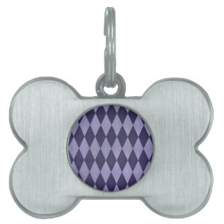 Two Toned Purple Harlequins Pet Tag