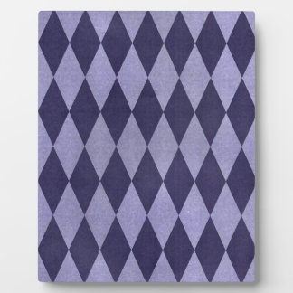 Two Toned Purple Harlequins Plaque