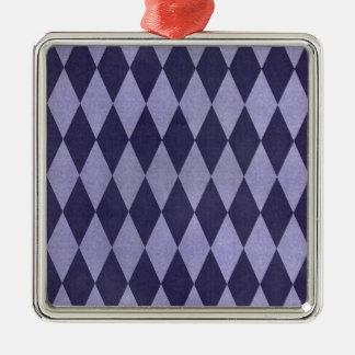 Two Toned Purple Harlequins Silver-Colored Square Decoration