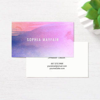 Two Toned Watercolor Business Card