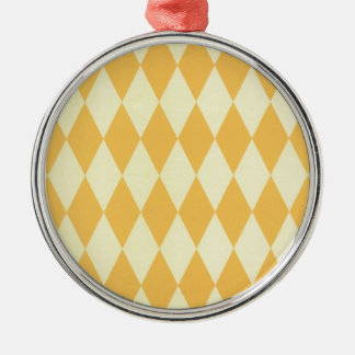 Two Toned Yellow Harlequins Christmas Ornament