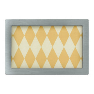 Two Toned Yellow Harlequins Rectangular Belt Buckles