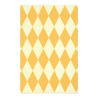 Two Toned Yellow Harlequins Stationery