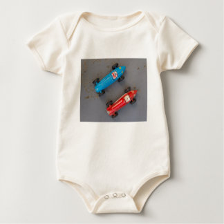 Two toy vintage cars baby bodysuit