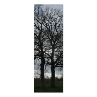 Two Trees in Nature Bookmark Cards Double-Sided Mini Business Cards (Pack Of 20)