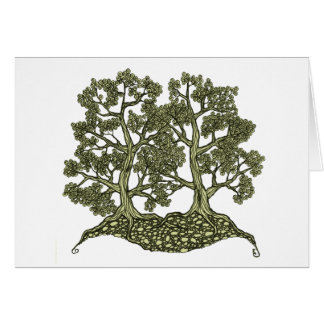 Two Trees intertwined Card
