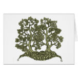 Two Trees intertwined Greeting Card