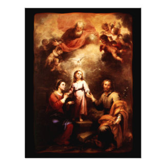 Two Trinities - The Holy Family - Murillo 21.5 Cm X 28 Cm Flyer