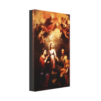 Two Trinities - The Holy Family - Murillo Canvas Print