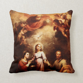 Two Trinities - The Holy Family - Murillo Cushion
