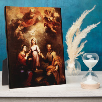 Two Trinities - The Holy Family - Murillo Display Plaque